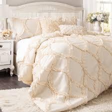 White 3 Piece Bedroom Set Maison Rouge Christine Ruffled White 3 Piece Comforter Set Free
