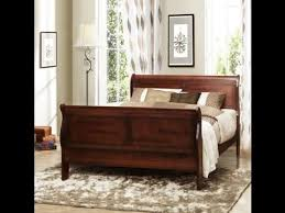 Cherry Sleigh Bed Queen Size Cherry Sleigh Bed Country Canterbury Style Wood Bedroom