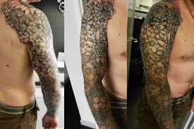 black and grey flower sleeve tattoos flower sleeve secret ink