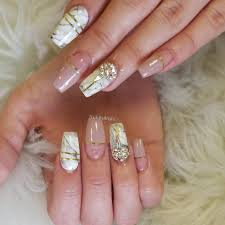 nailsbyanahi coffin full acrylic nails with gel polish with
