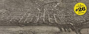 map of cleveland vogt s birdseye map of cleveland ohio 1887