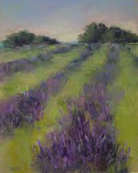 painting my world lavender field 2