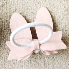 hair bobble bunny ears hair bobble pink felt the lovely room