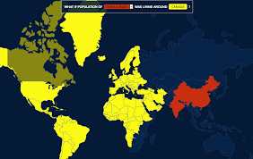 Population Map Of China by Interactive World Population Map Visualoop