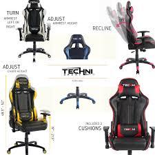 techni sport ergonomic high back gaming desk chair techni sport gaming chairs with nylon base font color red b see