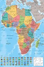 Blank African Map by Amazon Com Poster Service Africa Map Poster 24 Inch By 36 Inch