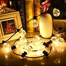 String Lights Outdoor Wedding by Aliexpress Com Buy G40 String Lights 25 Led Copper Wire Bulbs