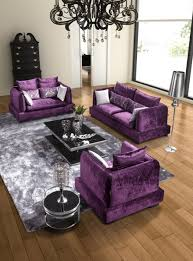 Living Room With Purple Sofa What Color Go With Purple For House Check It Out Purple