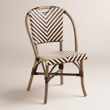 Single Bistro Chair Brown And Clarabella Cafe Chairs Set Of 2 World Market