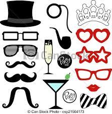 mustache party mustache party props mustaches eyeglasses vectors