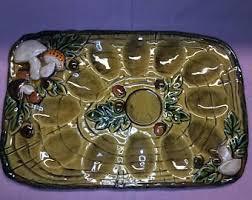 vintage deviled egg platter deviled egg tray etsy