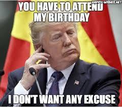 Birthday Wishes Meme - donald trump happy birthday meme happy wishes
