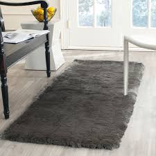 rug runners 2 x 6 silver shag rug collection safavieh