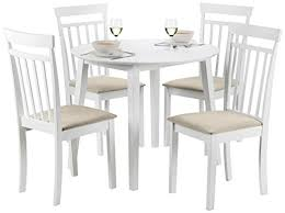 White Drop Leaf Table And Chairs Julian Bowen Coast Drop Leaf Table And 4 Chairs Wood White