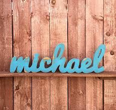 large wood sign michael custom wooden name sign cursive