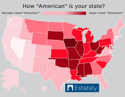 American State Map by Which U S States Are The Most U201camerican U201d Ranked 1 50 For Bald