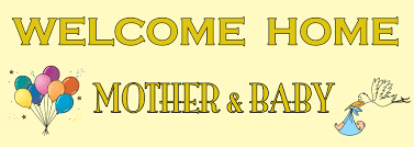 welcome home baby shower welcome home new baby banner personalised banners