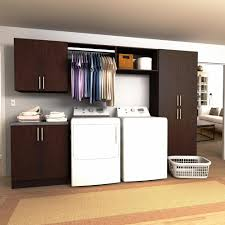Laundry Room Cabinets With Hanging Rod Modifi Horizon 120 In W Mocha Hanging Rod Laundry Cabinet Kit