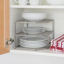kitchen cabinet organizers amazon amazon com seville classics 2 tier corner shelf counter and