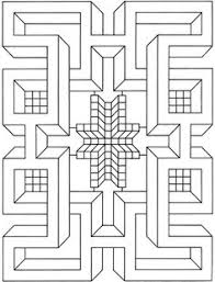 illusions coloring pages images of printable hard geometric coloring pages geometric