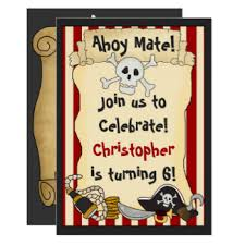 pirate invitations u0026 announcements zazzle