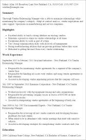 resume summary of qualifications management vendor relationship manager resume template best design tips