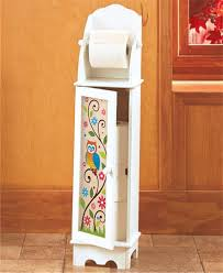 home design white wood free standing toilet paper roll holder