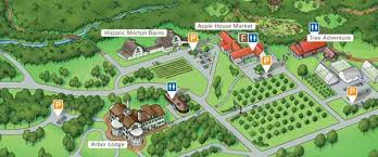 map of arbor attractions at arbor day farm