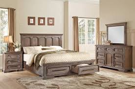 Rustic Wood Bedroom Furniture Palomino Rustic Wood Finish Bed