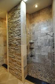 Tile Decoration Stacked Stone Shower Tile Decoration With Ledge Stone