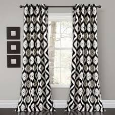 black ikat curtains u0026 drapes you u0027ll love wayfair