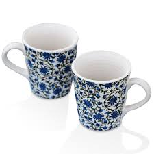 Porcelain Coffee Mugs Swagger Floral Coffeemugs Tea Cups