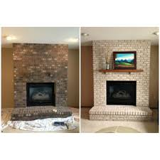 creative fireplace brick paint decor color ideas gallery on