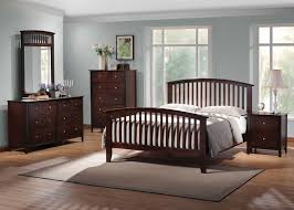 Dark Wood Bedroom Furniture Coaster Tia Slat Bedroom Set In Cappuccino 202081