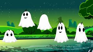 five naughty ghosts scary songs for kids halloween nursery