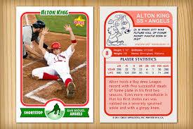custom baseball cards template baseball card template perfect for