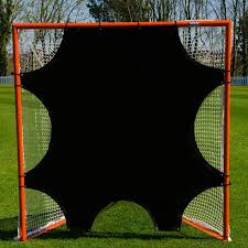 amazon com lacrosse goal target sheet 6ft x 6ft u2013 7 hole goal