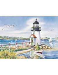 lighthouse cards nautical cards