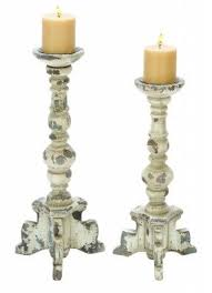 Candle Pedestals White Wooden Candle Holders Foter