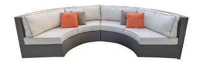 Curved Wicker Patio Furniture - curved outdoor couch curved outdoor sectional sofa