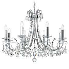 Crystal And Chrome Chandelier Crystorama Crystorama Othello 8 Light Clear Crystal Polished
