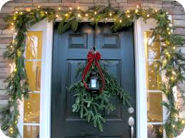 how to hang without nails how to hang garland around door without nails outside round designs
