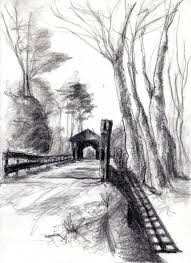 gallery easy landscape drawing from sketch drawing art gallery