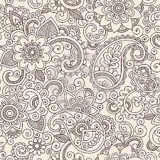 paisley pattern vector seamless henna paisley flowers pattern vector illu by blue67 via