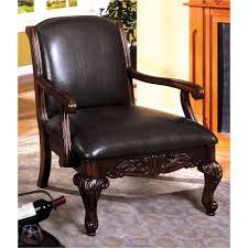 Antique Accent Chair Sheffield Antique Cherry Leather Arm Chair Cm Ac6177 The