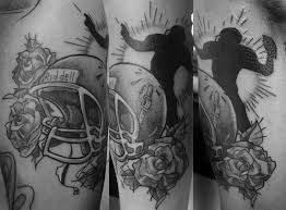 helmet tattoos black and white football and design