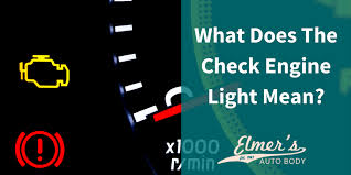 what does it mean when check engine light is on what does the check engine light mean elmers auto body