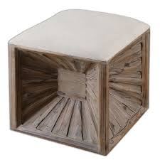 Wood Ottoman Uttermost Jia Wood Cube Ottoman Free Shipping Today