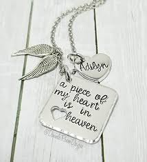 remembrance jewelry baby memorial jewelry a of my heart is in heaven