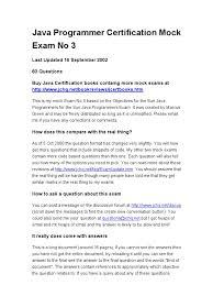 scjp java programmer certification mock exam 3 class